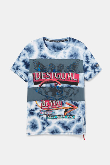 Hybrid T-shirt with patch | Desigual