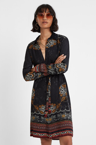 Cowgirl shirt dress