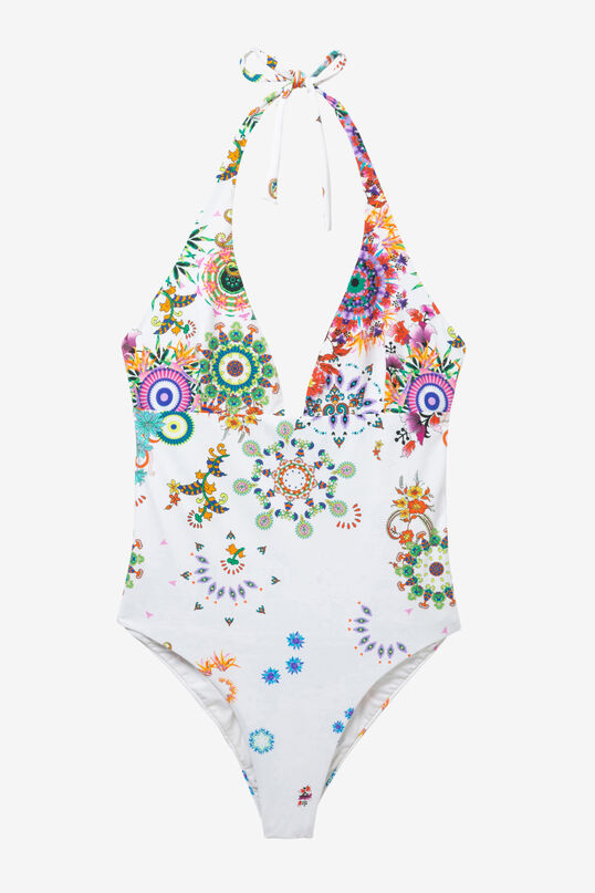 White Slim Swimsuit Glen | Desigual