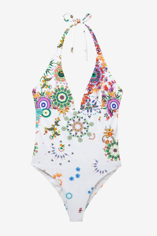 White Slim Swimsuit Glen | Desigual