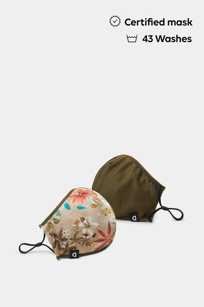 Mascherina reversibile Camoflower + custodia