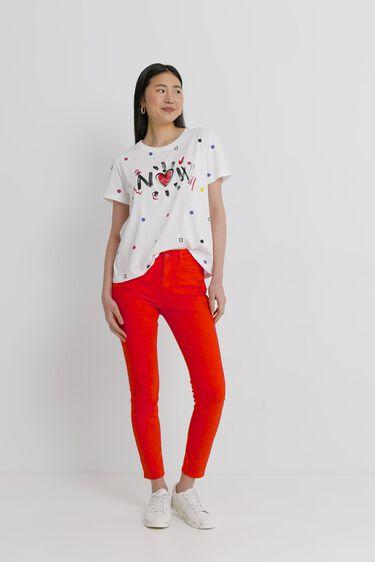 T-shirt short sleeve dots | Desigual