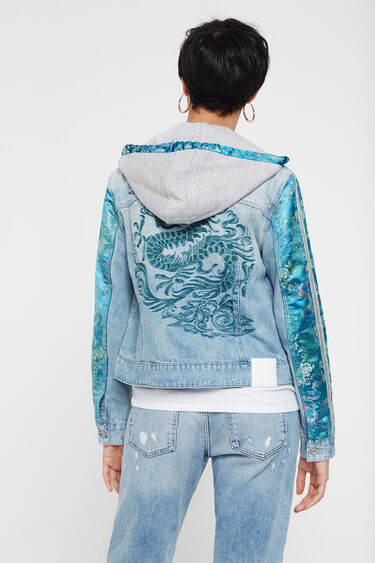 Patchworkowa kurtka jeansowa w orientalnym stylu | Desigual