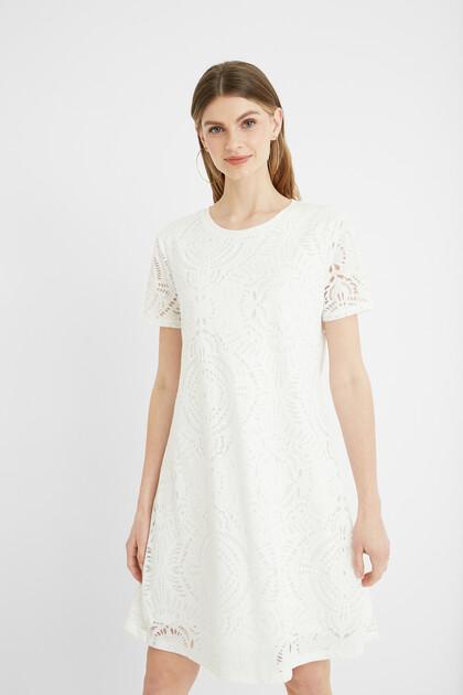 Embossed T-shirt dress