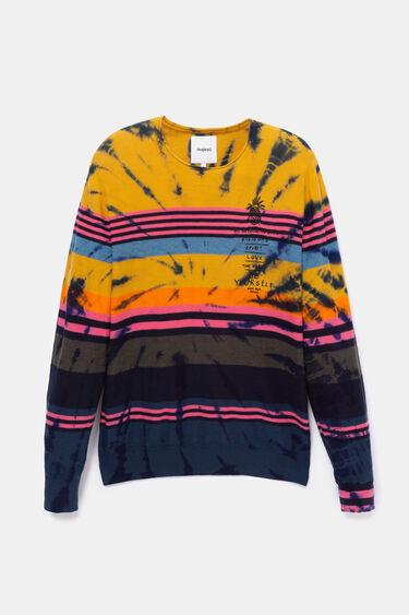 Hawaiianischer Pullover mit bunten Streifen | Desigual