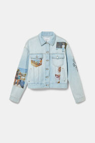 Cropped denim trucker jacket South Beach   Desigual