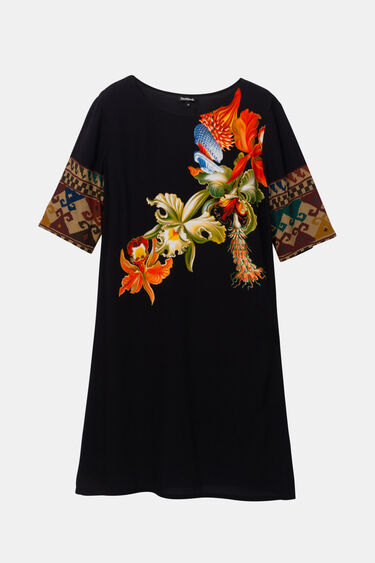 Vestit de viscosa amb mànigues 3/4 Designed by M. Christian Lacroix | Desigual