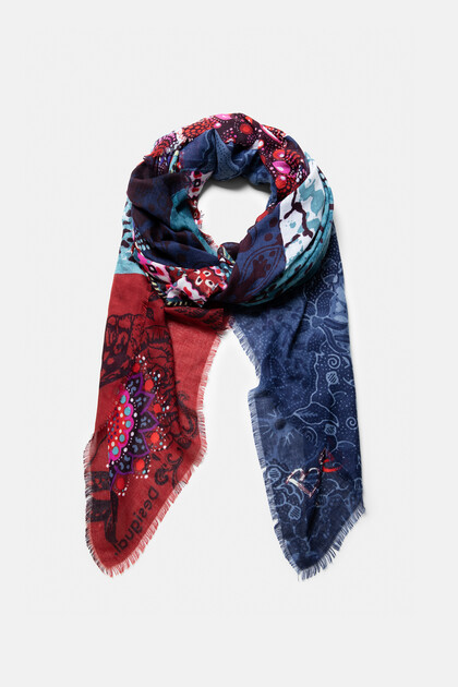 Foulard rectangular estampado