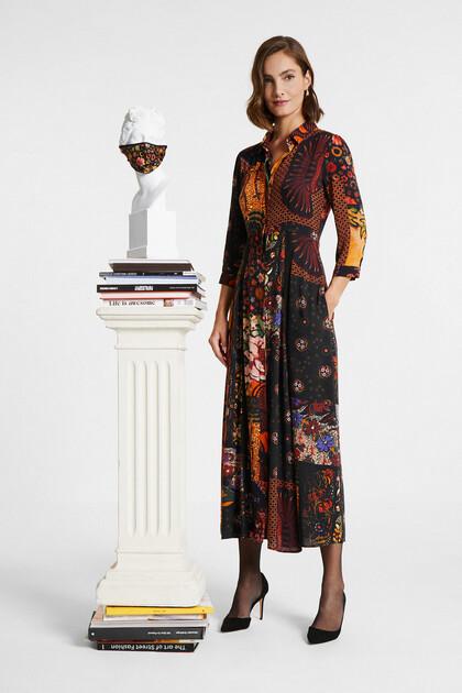 Sukienka koszulowa o długim kroju