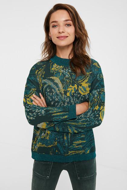 Pullover in maglia tropicale