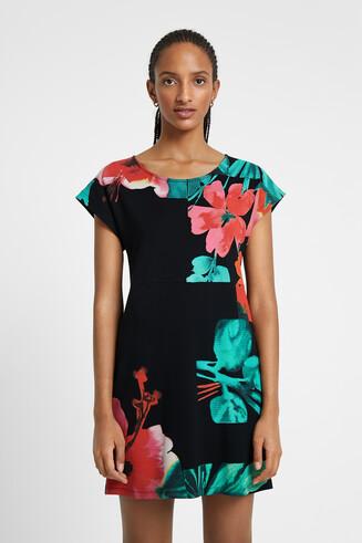 Vestito T-shirt floreale