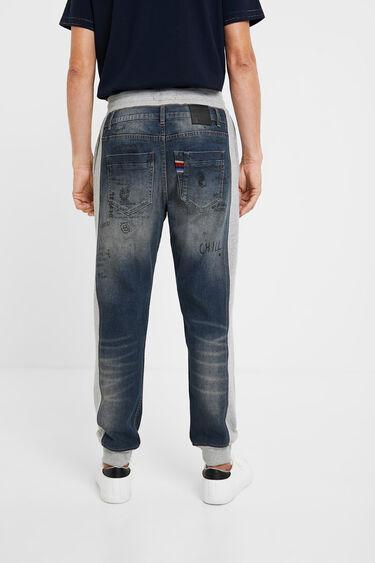 Hybride entre jogger et jean à stylomania | Desigual