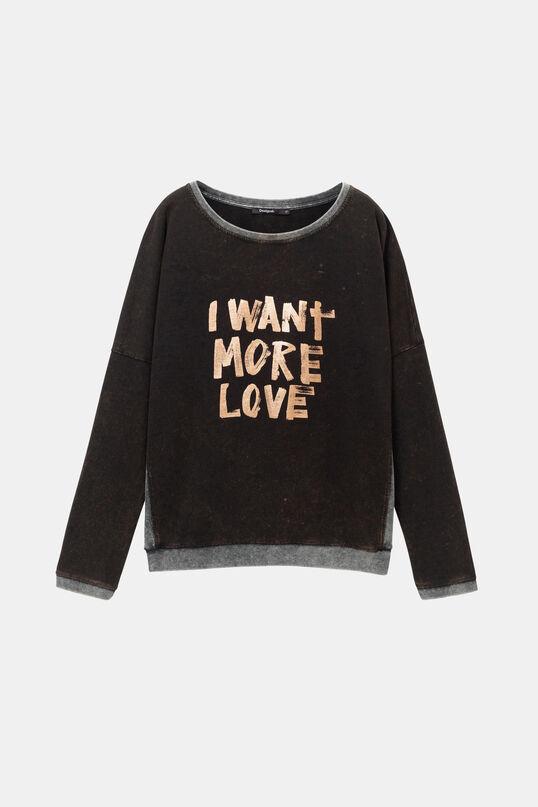 Sweat-shirt usé love | Desigual