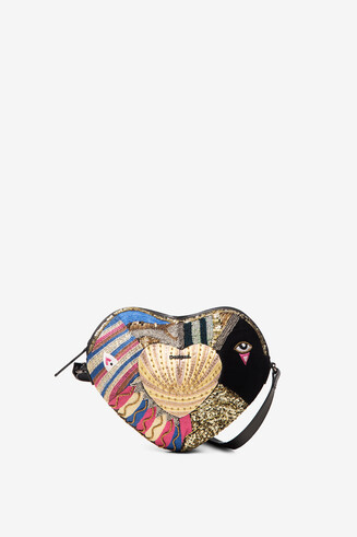 Heart cross-body bag