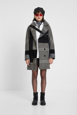 Loose checked coat