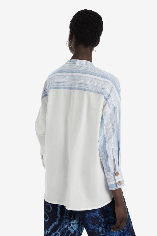 Camisa oversize gola mao   Desigual