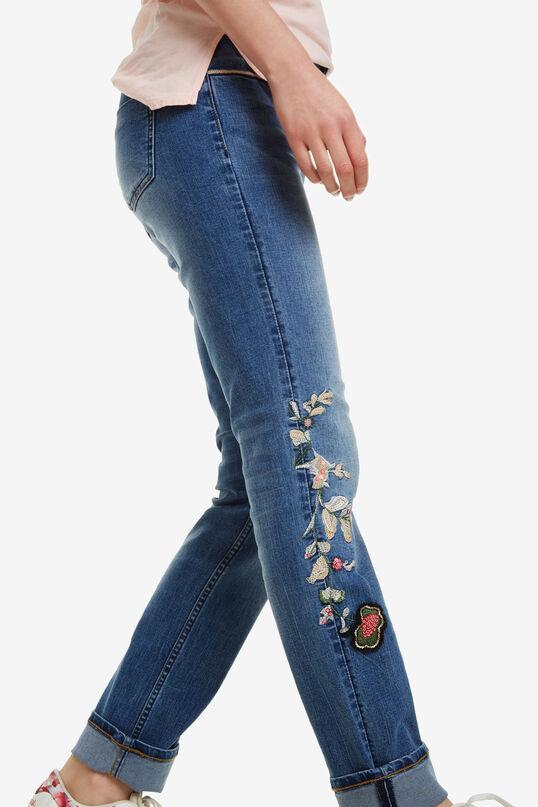 Slimfit spijkerbroek Barcelona Flowers | Desigual