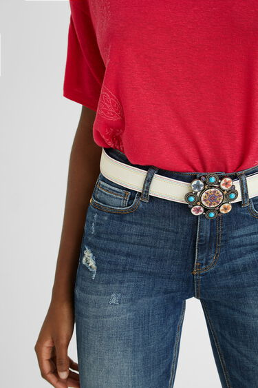 Cinturón reversible mandalas | Desigual
