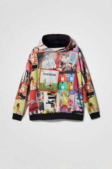 Hooded sweatshirt mix post cards   Desigual