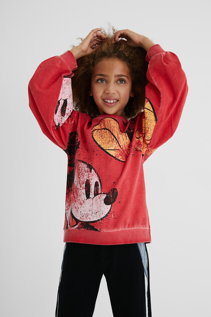 Worn Mickey Mouse sweatshirt