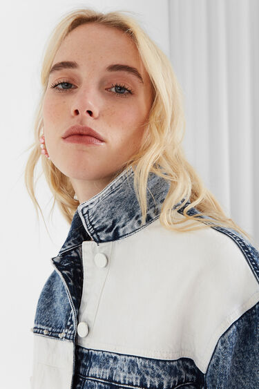 Veste en jean patch bicolore | Desigual