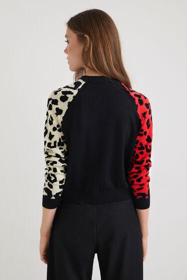 Jumper sleeves animal print | Desigual