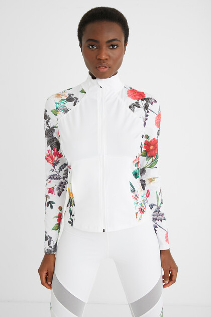 Slim fit floral jacket