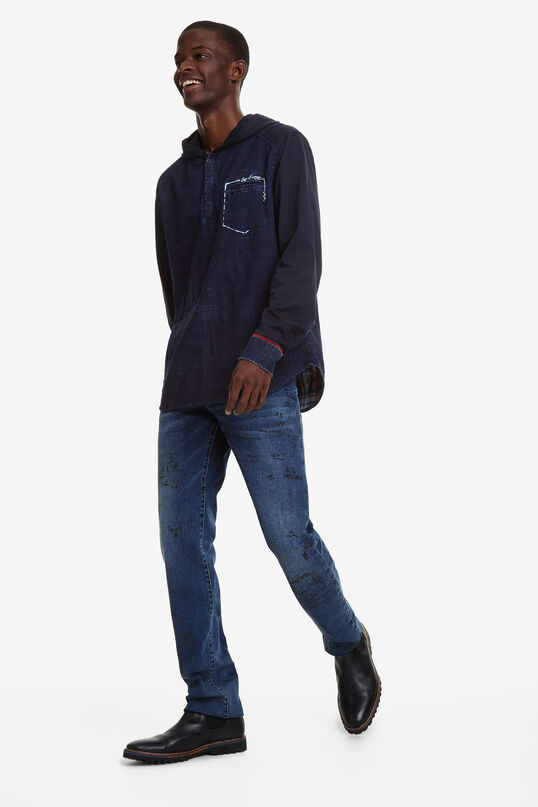 Hooded denim shirt   Desigual