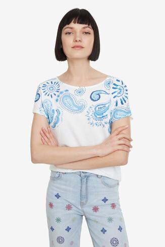 Blue Paisley T-shirt Paisley Mix