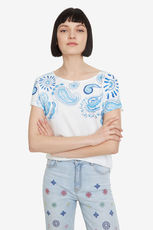 T-shirt paisley bleu Paisley Mix | Desigual