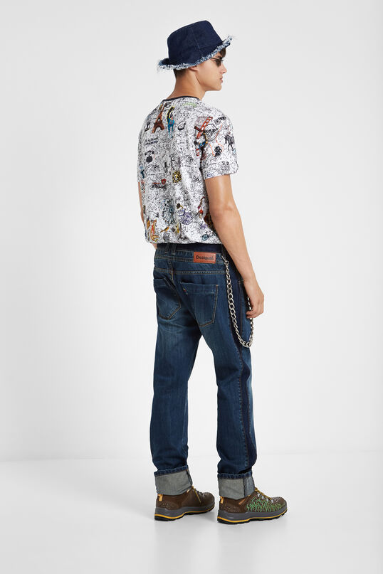 100% cotton print all over travel T-shirt | Desigual