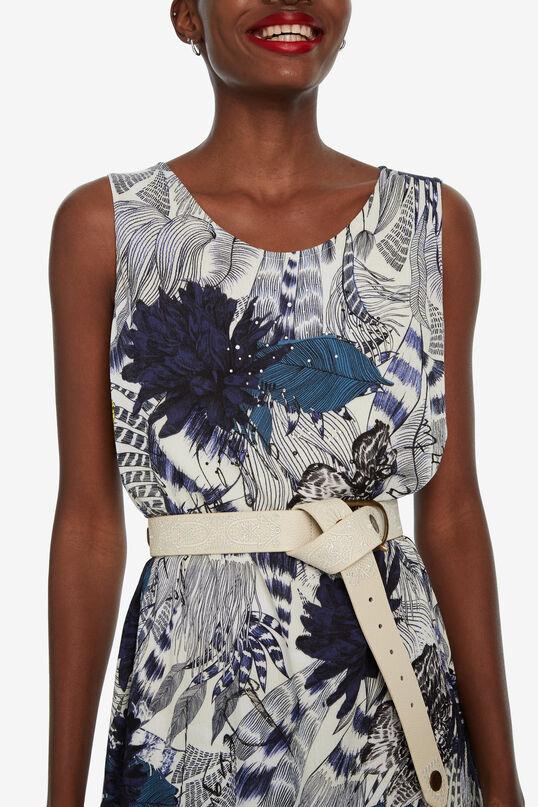 Sleeveless floral dress Iowas | Desigual