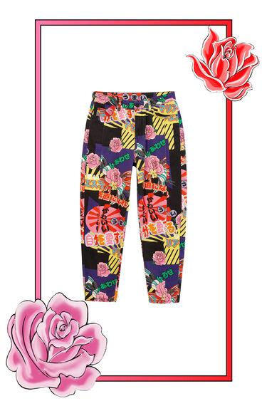 High-waisted Mum Trousers | Desigual