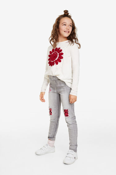 Basic jeggings reversible sequins | Desigual