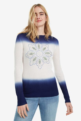 Blue and White Tie-dye Jumper Cristina