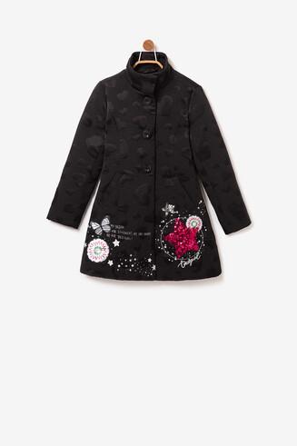 Manteau bijou col Mao