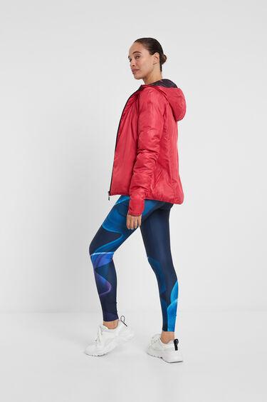 Padded reversible floral jacket   Desigual