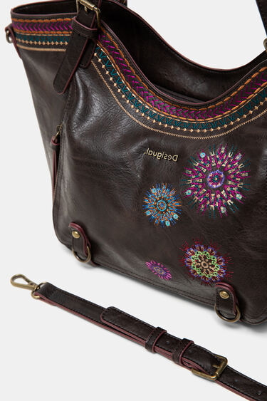 Embroidered bag curves | Desigual