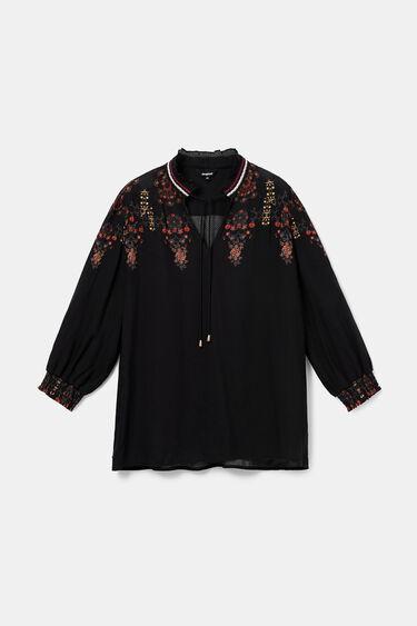 Boho blouse pom poms | Desigual