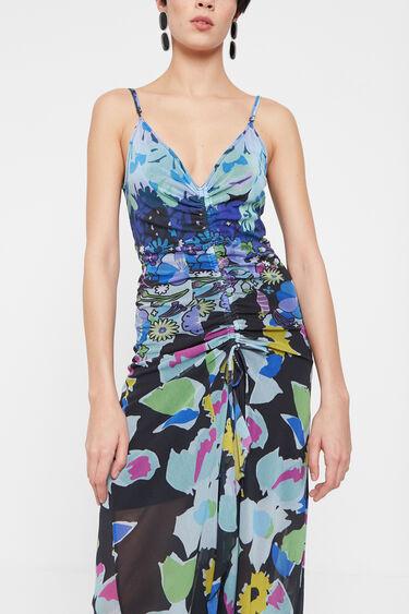 Sukienka z nadrukiem w kwiaty | Desigual