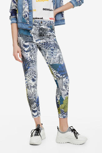 Print Ankle-grazer Trousers Cosmic