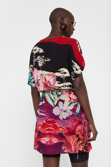 Vestido kimono floral oriental | Desigual