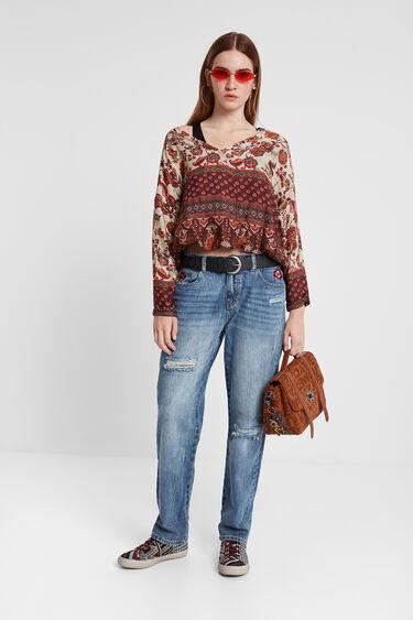 Boho floral blouse | Desigual