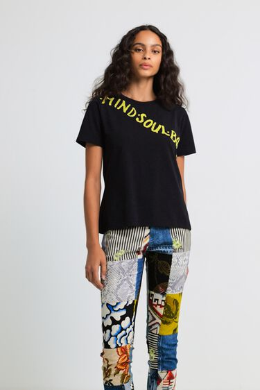 T-shirt slim strass | Desigual