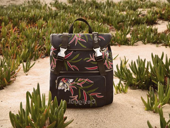 Mochila bordado floral