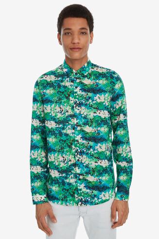 Camisa floral verde-agua Diogo