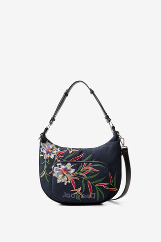 Multicolour floral print bag
