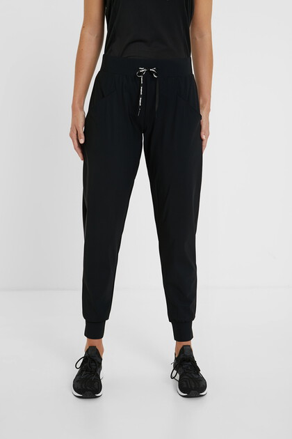 Straight trousers drawstring