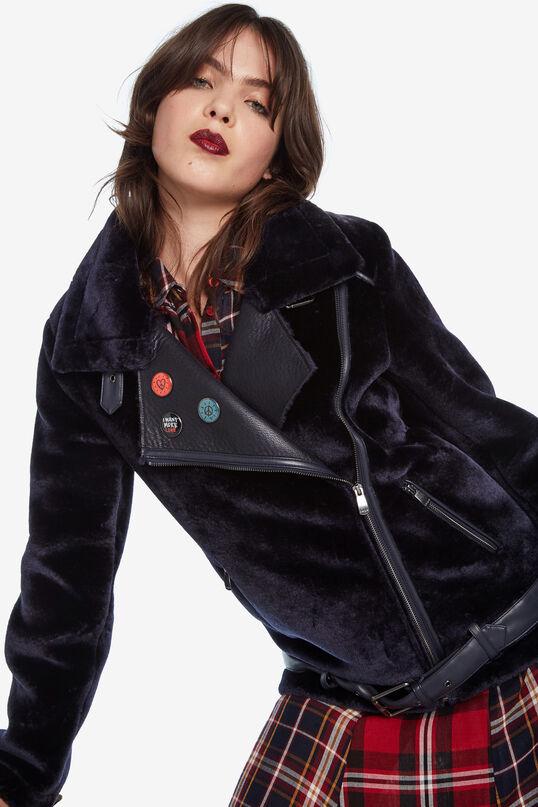 Jaqueta vellutada xapes | Desigual