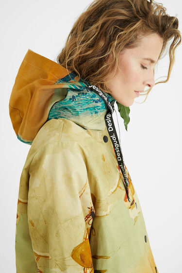 100% cotton hooded parka | Desigual